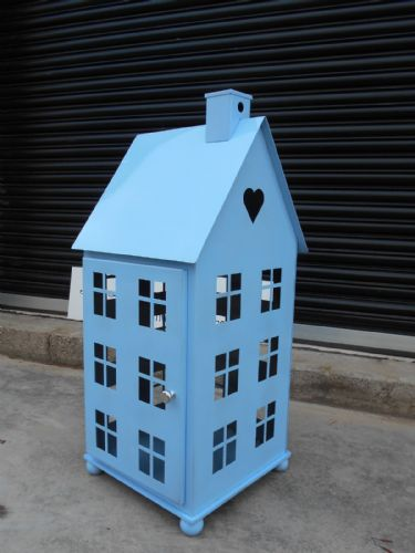 Large Powder Blue House Lantern